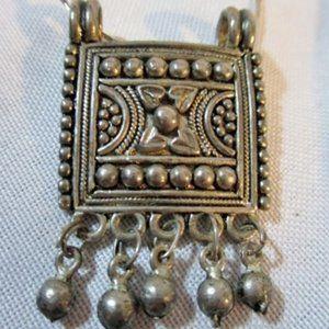 Jewelry - Ethnic dangle necklace ball pendant boho hippy